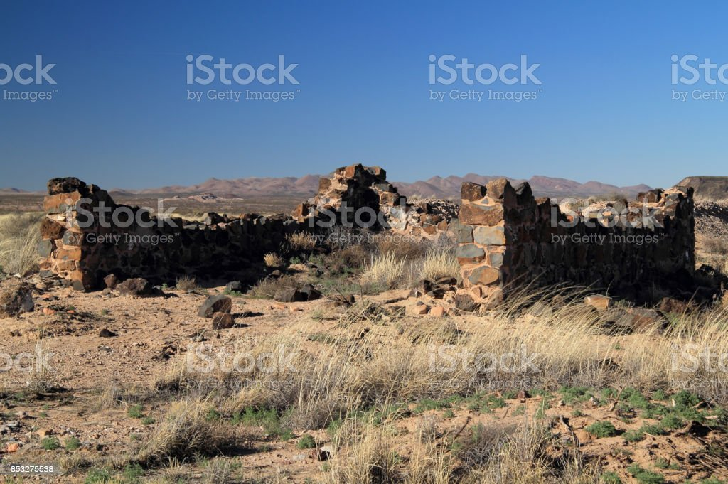 Historic Fort Craig stock photo