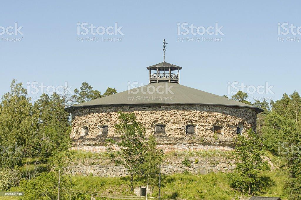 Historic fort on island near Stockhlm royalty-free stock photo
