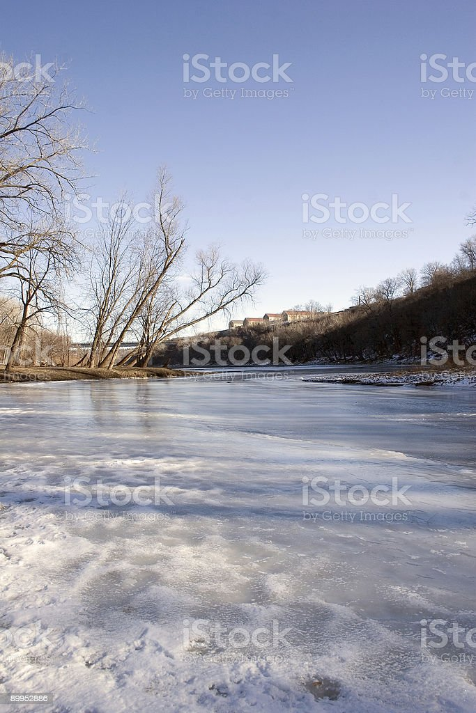 Historic Fort Snelling overlooking the Mississippi River royalty-free stock photo