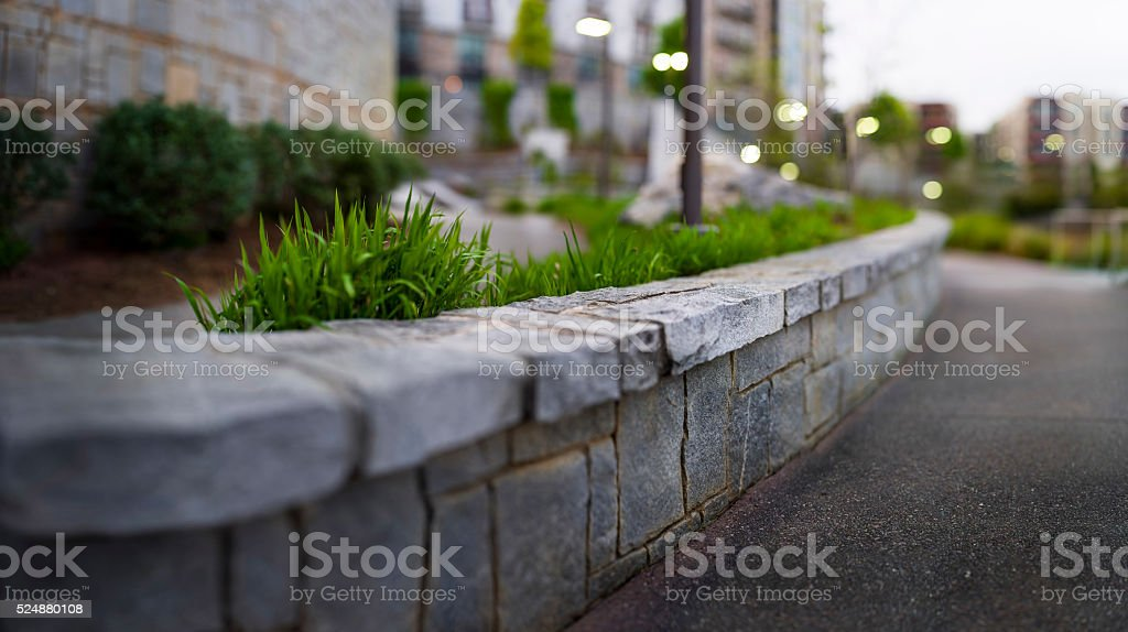 Historic Fourth Ward Park stock photo