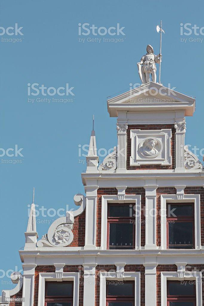 Historic gable, Lüneburg, Germany royalty-free stock photo