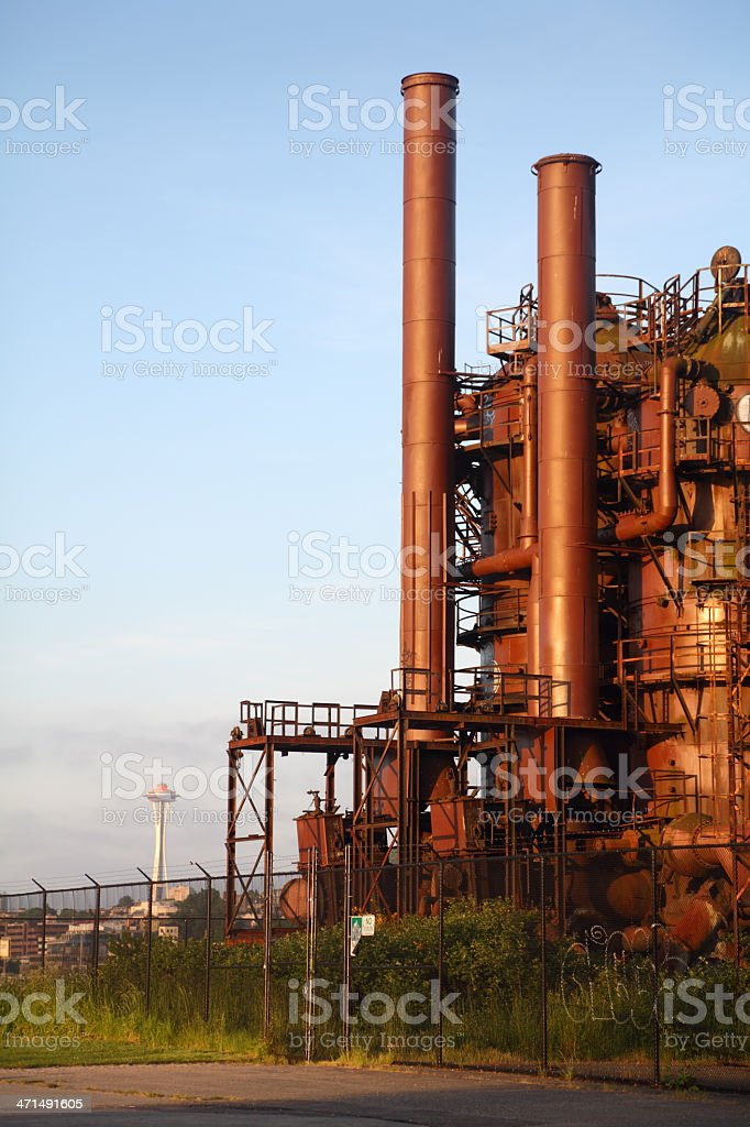 Historic Gasworks Park, Lake Union, Seattle stock photo