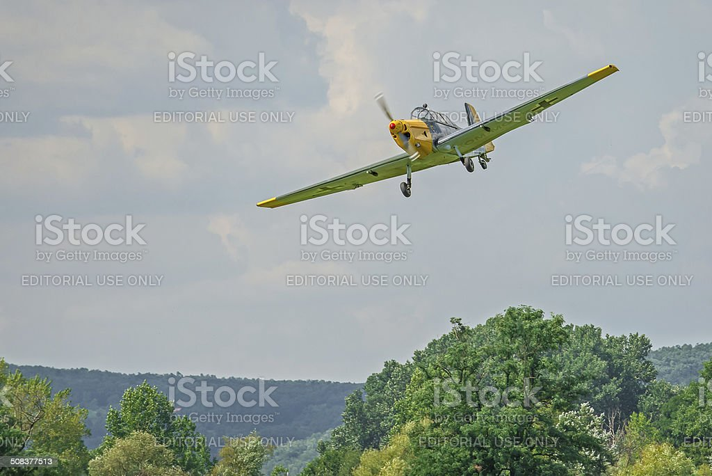 Historic german bomber Zlin 205 stock photo