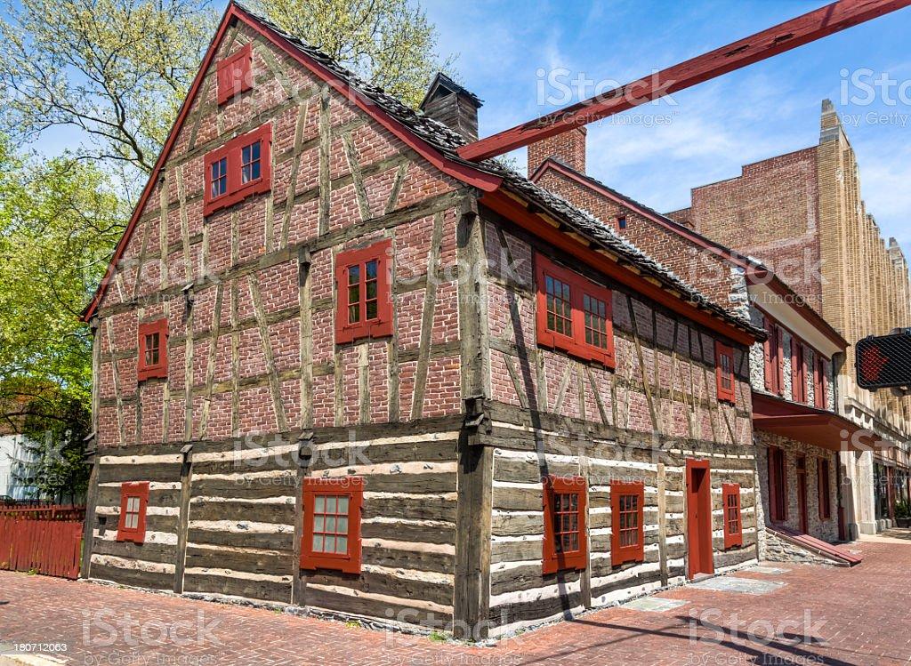 Historic Golden Plough Tavern stock photo