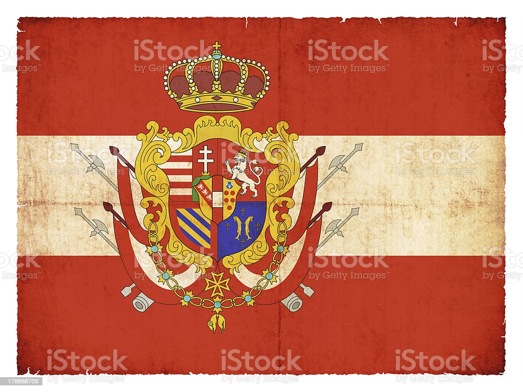 Historic grunge flag of the Grand Duchy Tuscany royalty-free stock photo