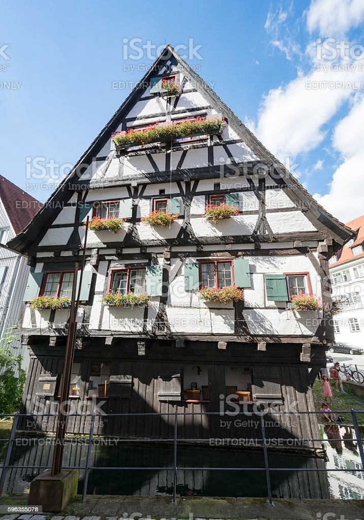 Historic half-timbered house in Ulm royalty-free stock photo