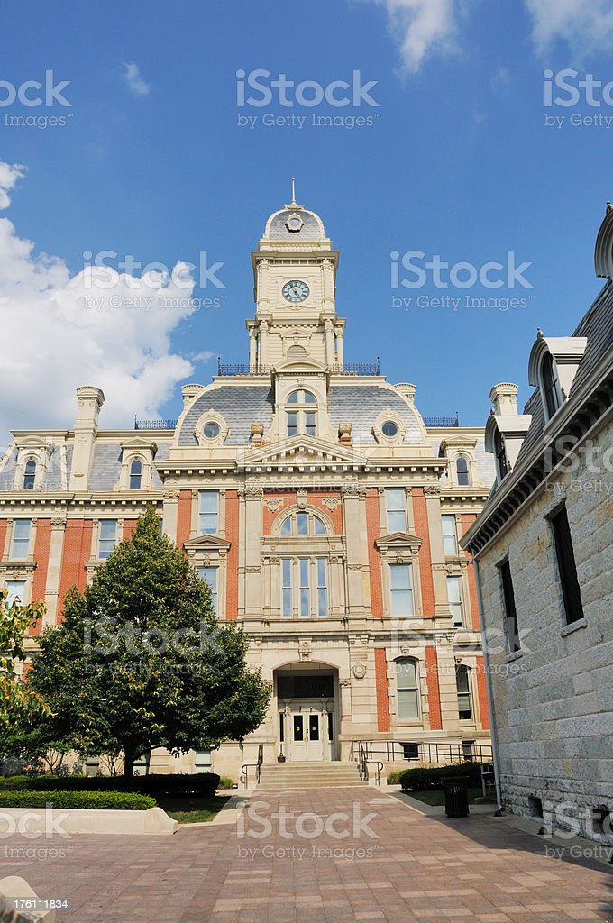 historic hamilton county indiana courthouse building and