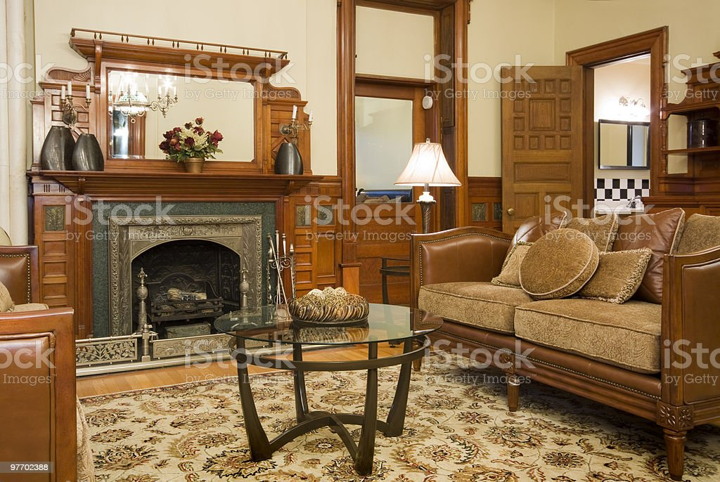 Historic Home Interior royalty-free stock photo