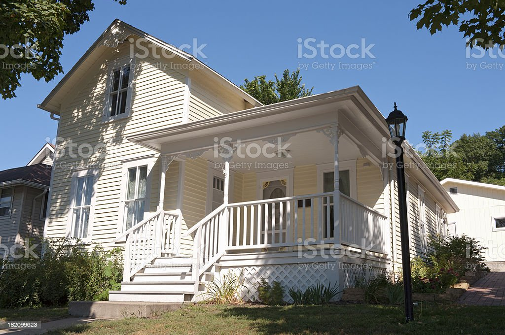 Historic Home of Local Author in Mankato stock photo