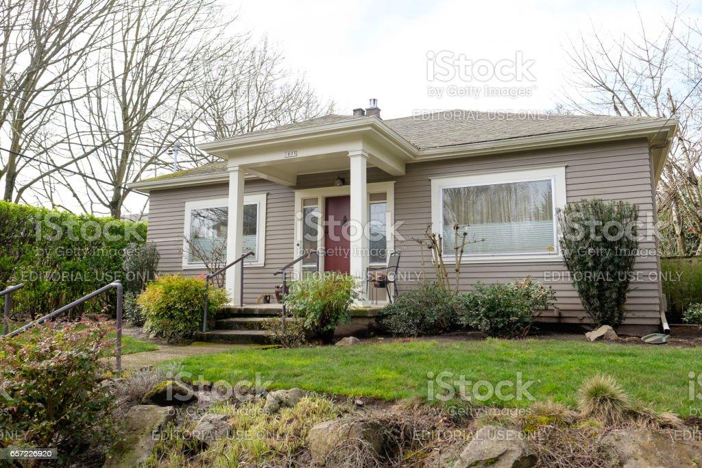 Historic Home Portland Oregon stock photo