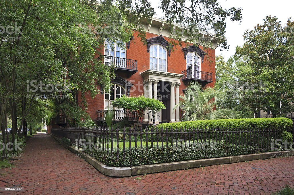 Historic Home: Savannah, Georgia royalty-free stock photo