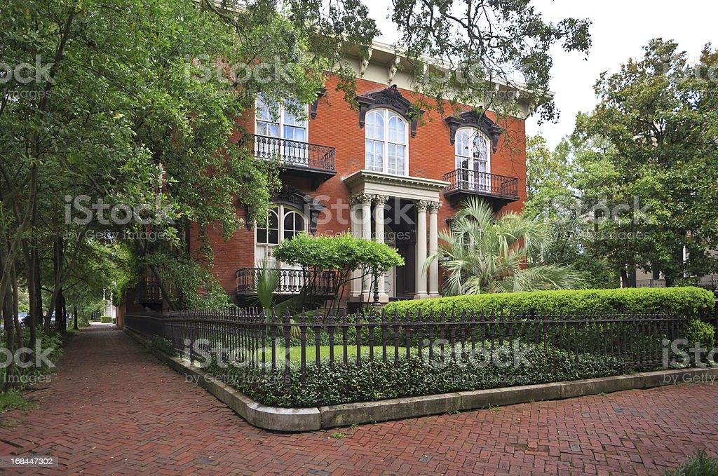 Historic Home: Savannah, Georgia stock photo