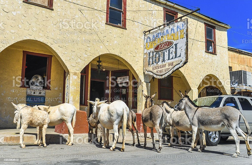 Historic Hotel on Route 66 stock photo