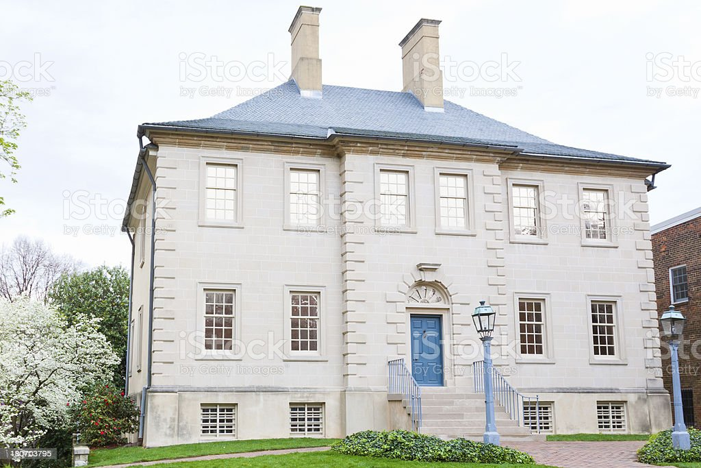 Historic House in Alexandria, Va. stock photo