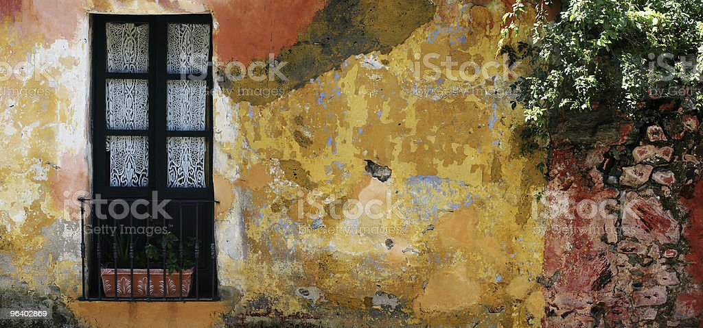 Historic house in Colonia, Uruguay royalty-free stock photo