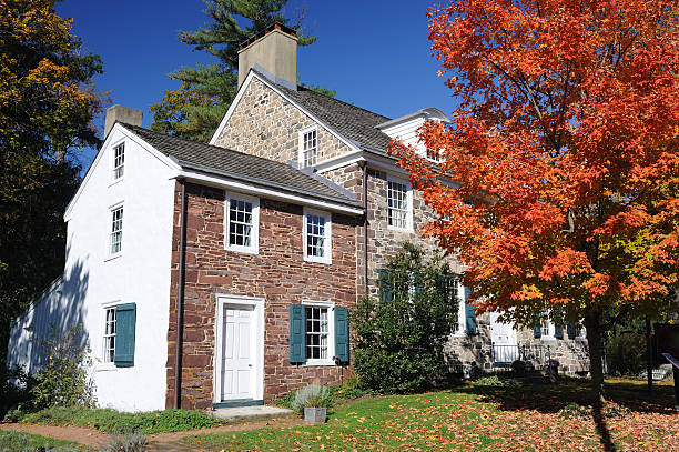 Historic House in New Hope stock photo