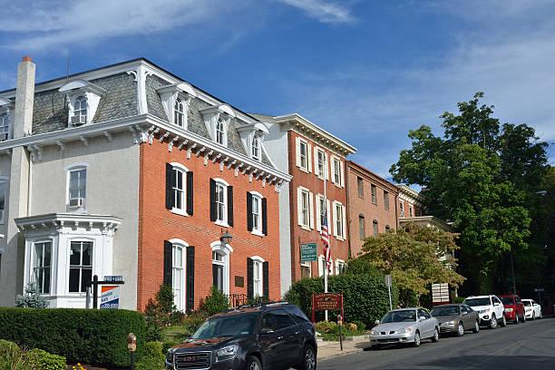 Historic Houses in Doylestown stock photo