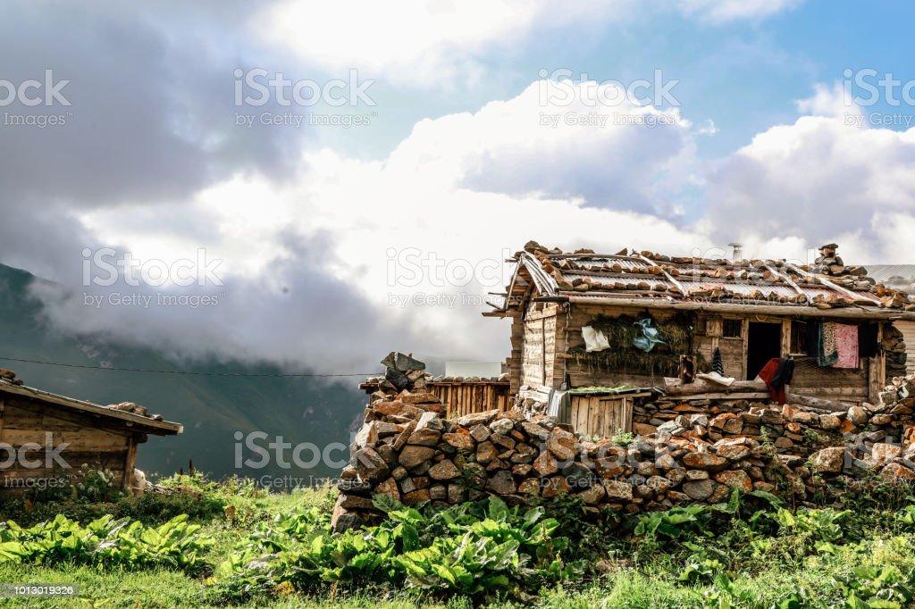 Karadeniz tarihi evleri stok fotoğrafı