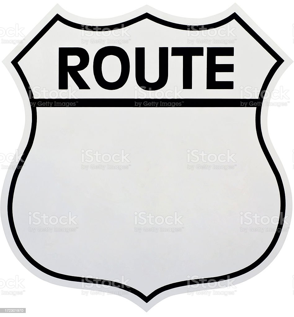 Historic Hwy Route Sign. royalty-free stock photo