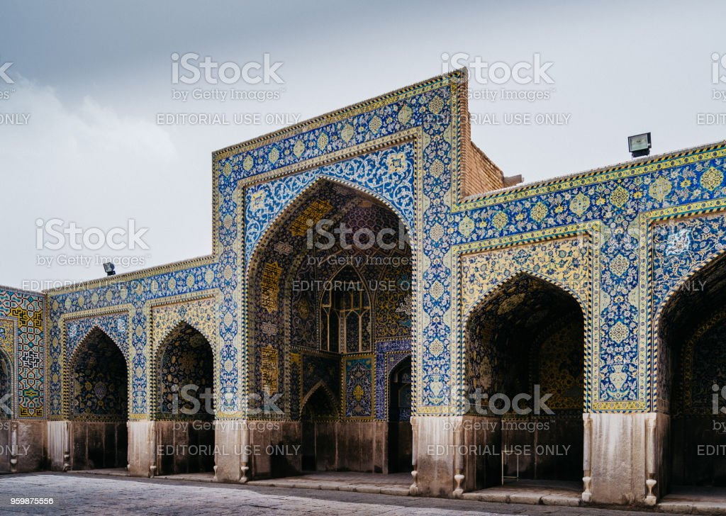 Historic Imam Mosque at Naghsh-e Jahan Square, Isfahan,Iran stock photo
