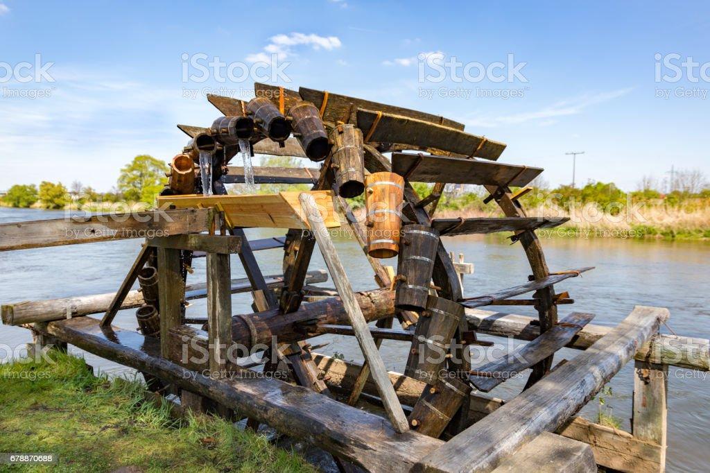 historic irrigation wheel photo libre de droits