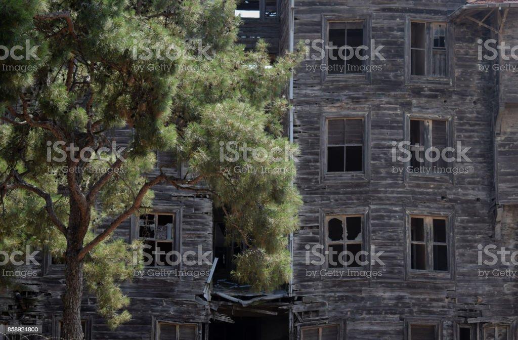 Historic Istanbul Greek Orphanage stock photo