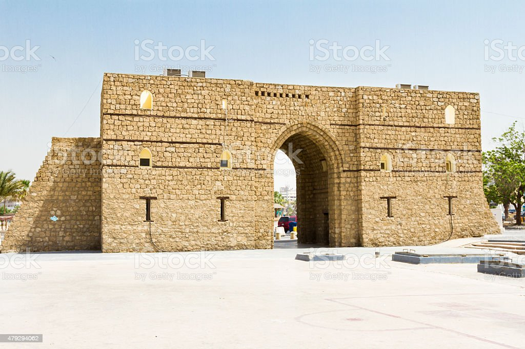 Historic Jeddah architecture stock photo