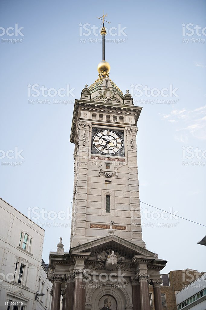Historic Jubilee Clock Tower in Brighton, UK royalty-free stock photo