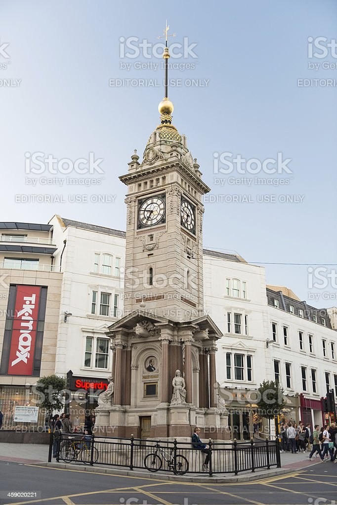 Historic Jubilee Clock Tower in Brighton, UK royalty-free stock photo