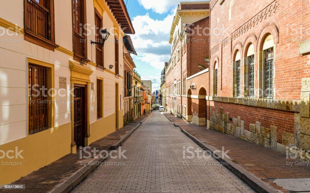 Historic La Candelaria neighborhood in Bogota, Colombia stock photo