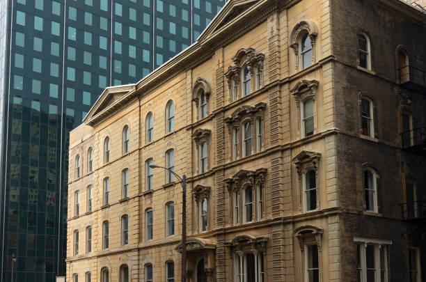 Historic Landmark and Corporate Tower in Milwaukee stock photo