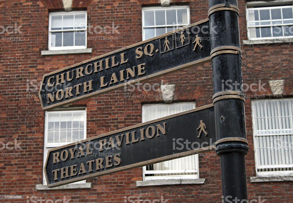 Historic Lanes in Brighton royalty-free stock photo