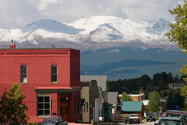 Historic Leadville Colorado stock photo