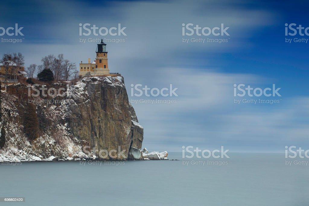 Historic lighthouse at Splitrock Minnesota stock photo
