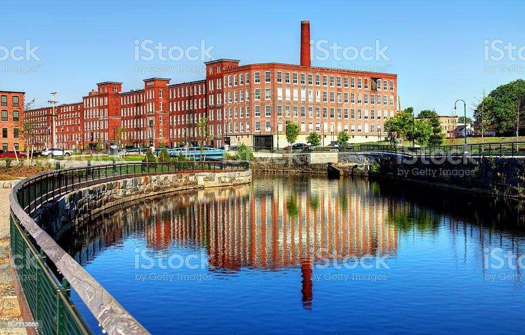 Historic Lowell, Massachusetts stock photo