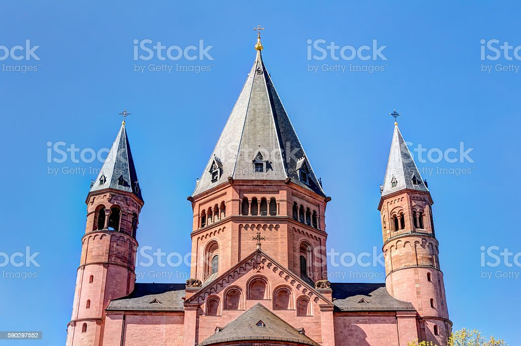 Historic Mainz Cathedral royaltyfri bildbanksbilder