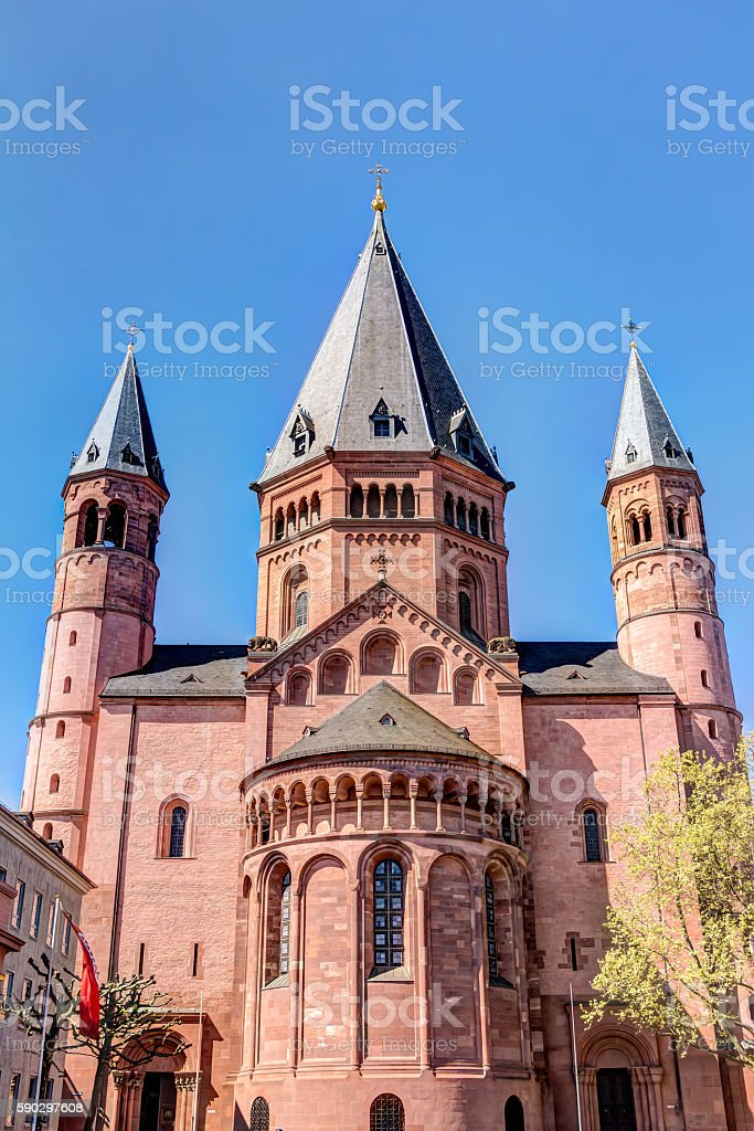 Historic Mainz Cathedral Стоковые фото Стоковая фотография