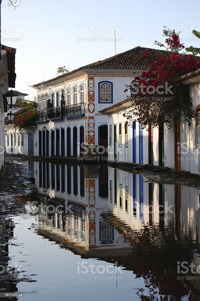 Historic mansions Paraty Brazil royalty-free stock photo