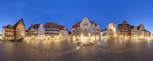 place du marché historique de la vieille ville de Hildesheim, en Allemagne - Photo