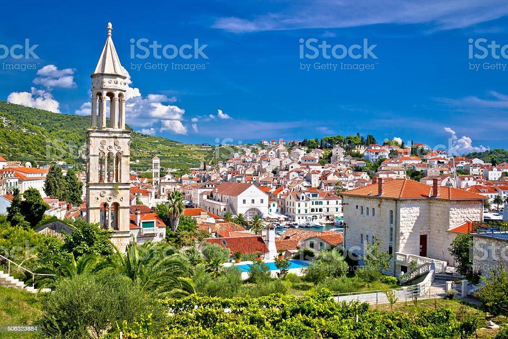 Historic mediterranean town of Hvar stock photo