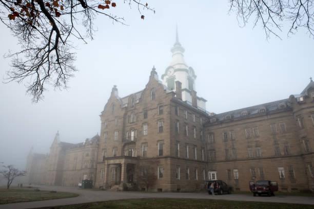Historic mental hospital in Weston, Va (Trans-Allegheny Lunatic Asylum) stock photo