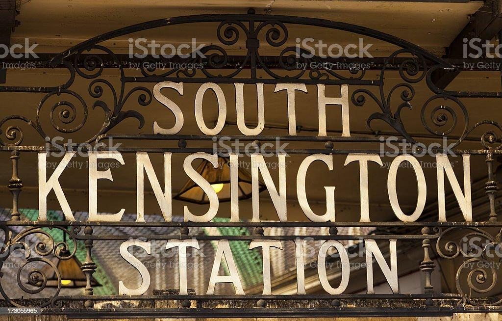 Historic Metropolitan and District Railways sign stock photo