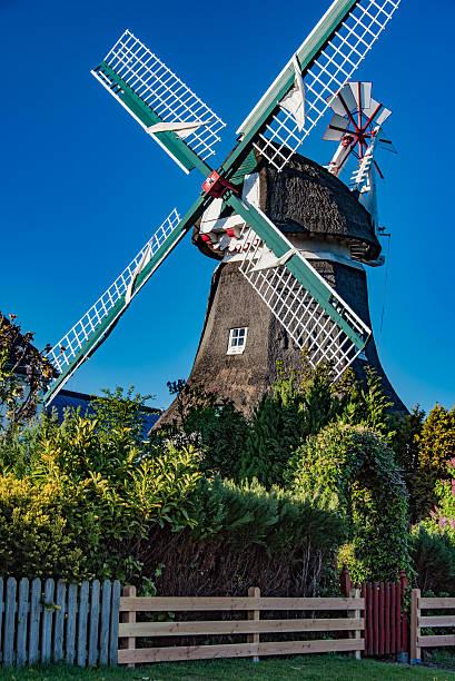 historic mill at norderney, germany - urlaub norderney stock-fotos und bilder