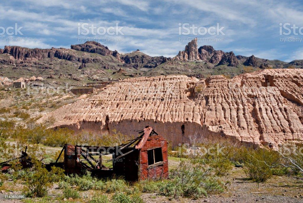 Historic Mining Town of Oatman stock photo