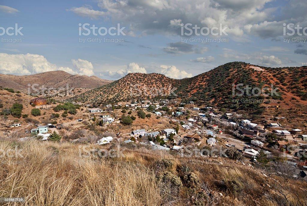 Historic Mining Town stock photo