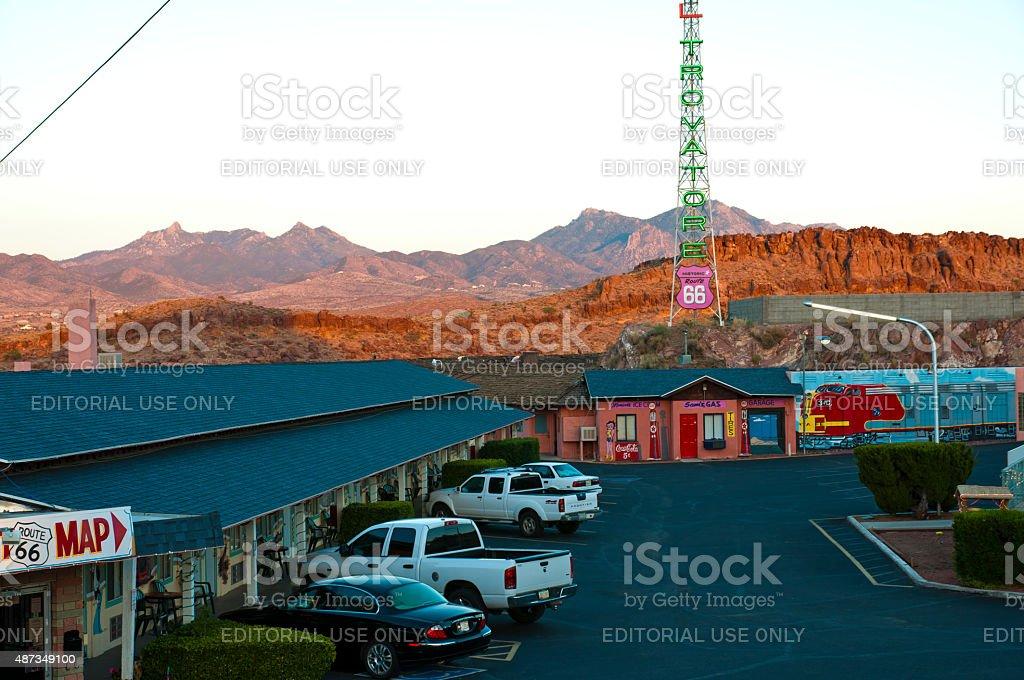 Historic Motel along Route 66 stock photo