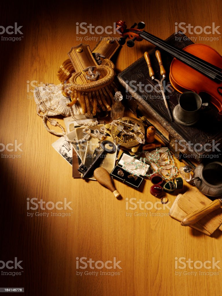 Historic Navel to 1930's Collectables royalty-free stock photo