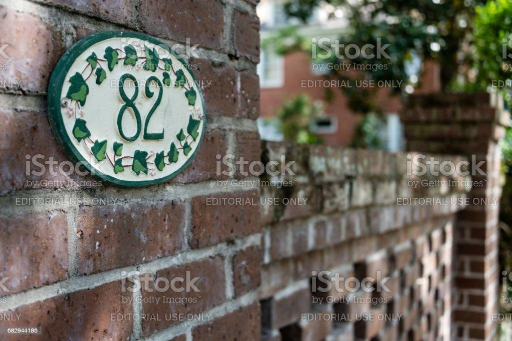 Historic Neighborhood, Charleston, South Carolina royalty-free stock photo