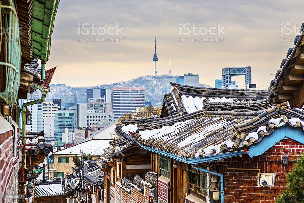 Historic Neighborhood of Seoul stock photo