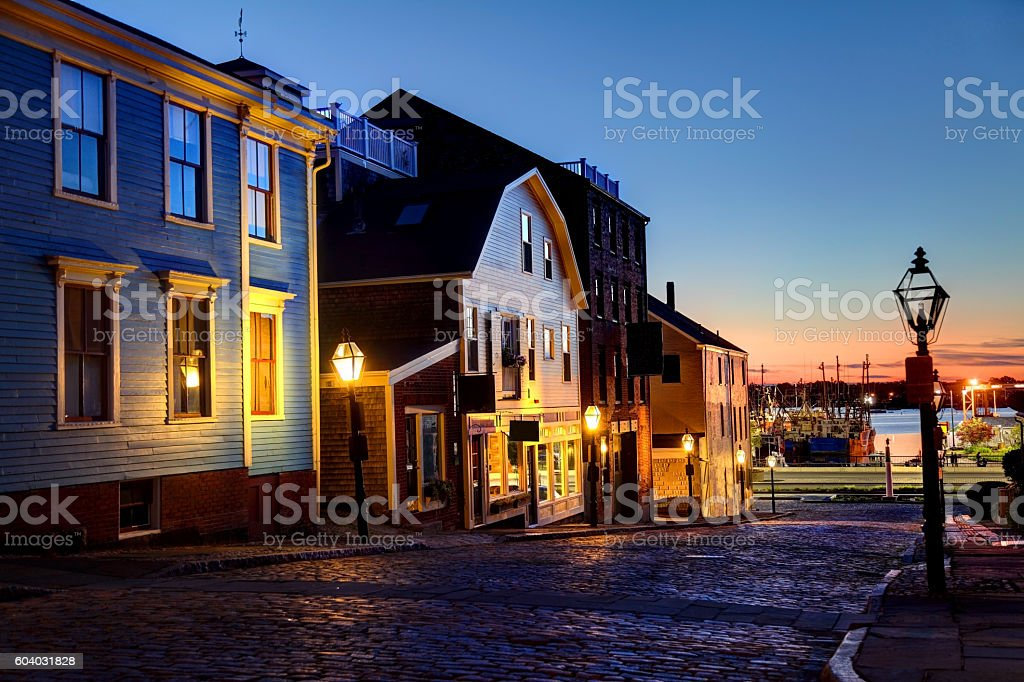Historic New Bedford Waterfront stock photo